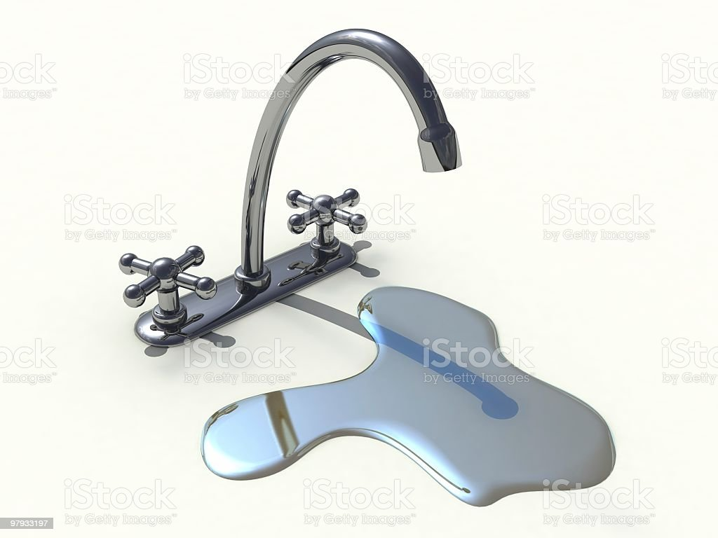 3D tap royalty-free stock photo