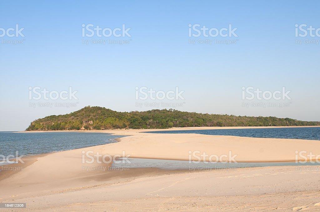 Tapajos river in the amazon stock photo