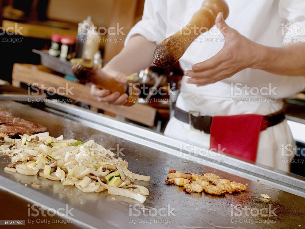 Tapanyaki, Japanese Cooking stock photo