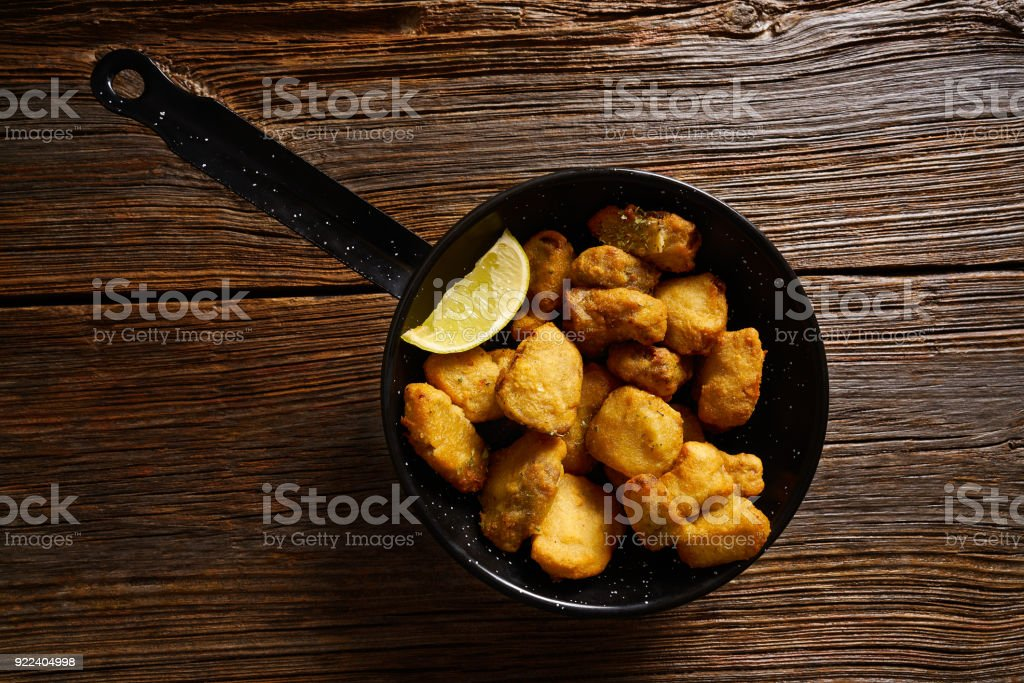 Tapas Adobo fried fish Andalusian Spain stock photo