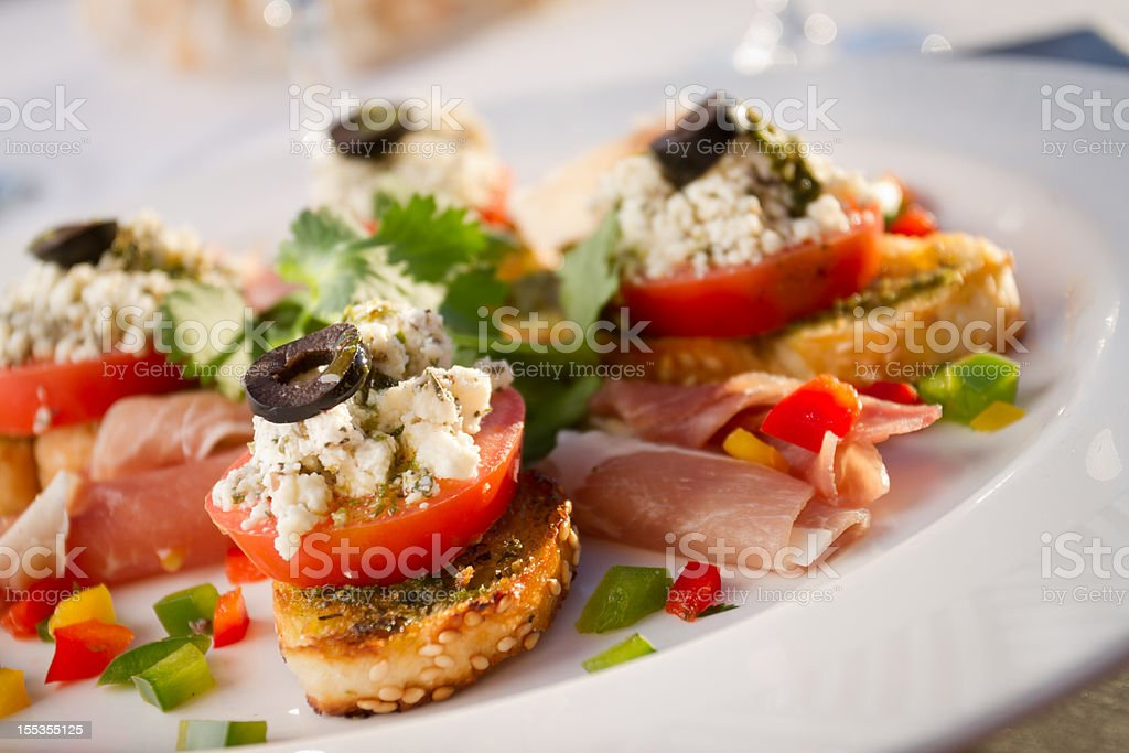 Tapas and Red Wine royalty-free stock photo