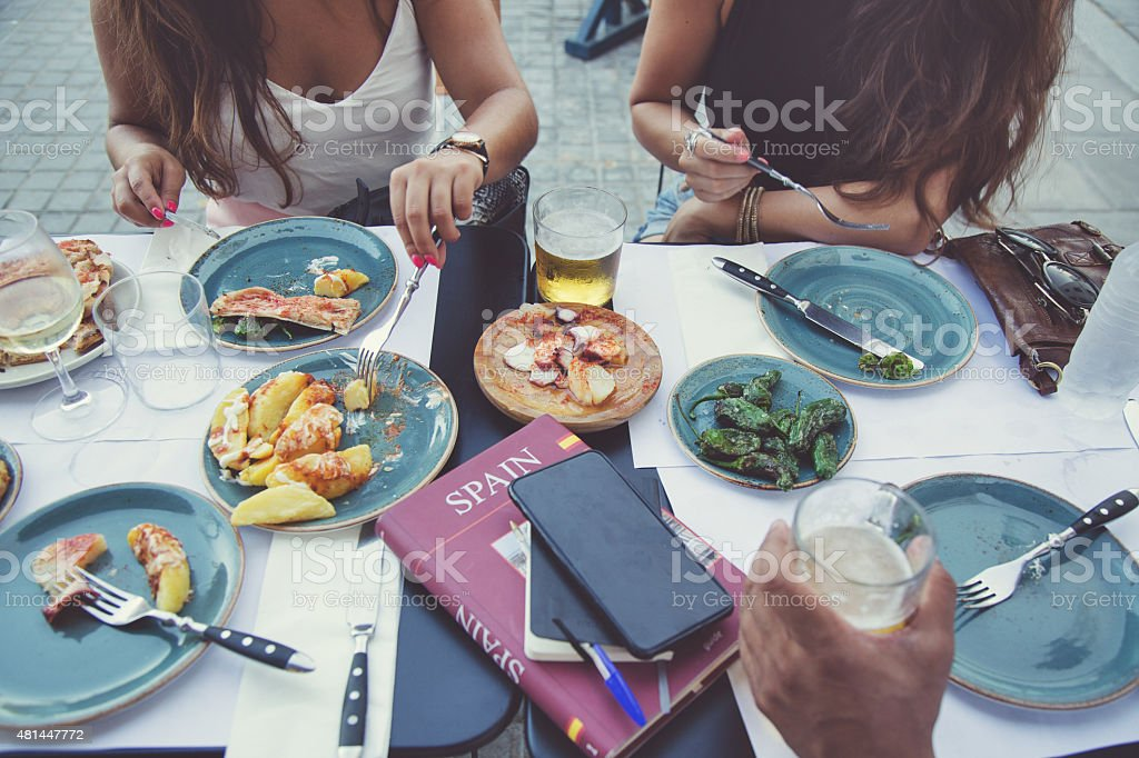 Tapas in Barcelona stock photo