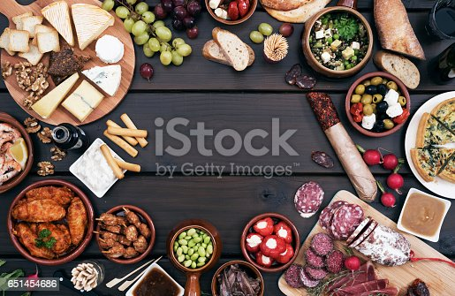 Tapas food header with copy space