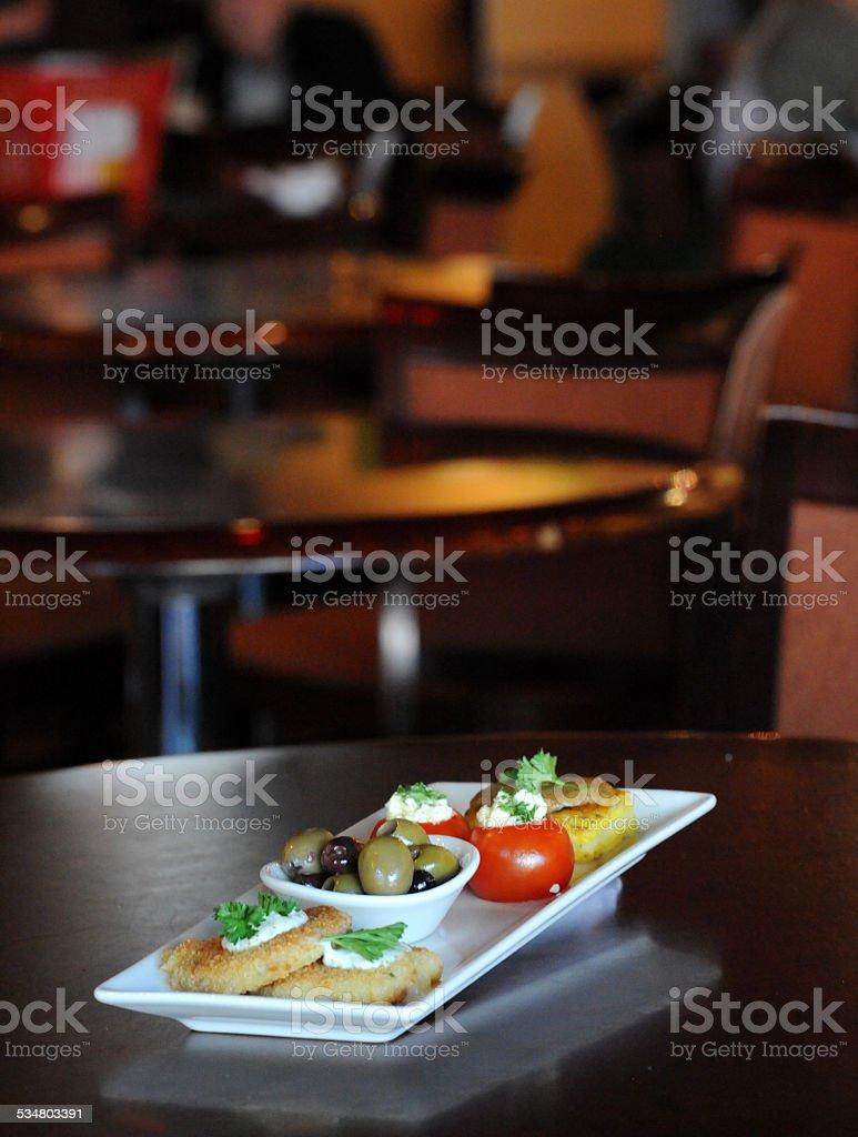 Tapas Plate Beginning stock photo
