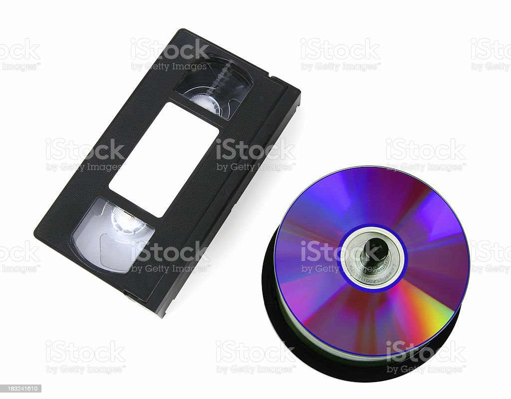 VHS Tape & DVDs royalty-free stock photo
