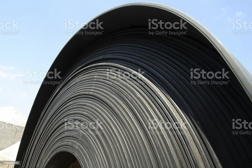 Tape for industry conveyor in sun stock photo