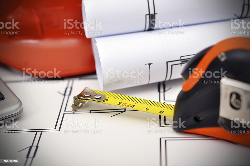 Tape line royalty-free stock photo