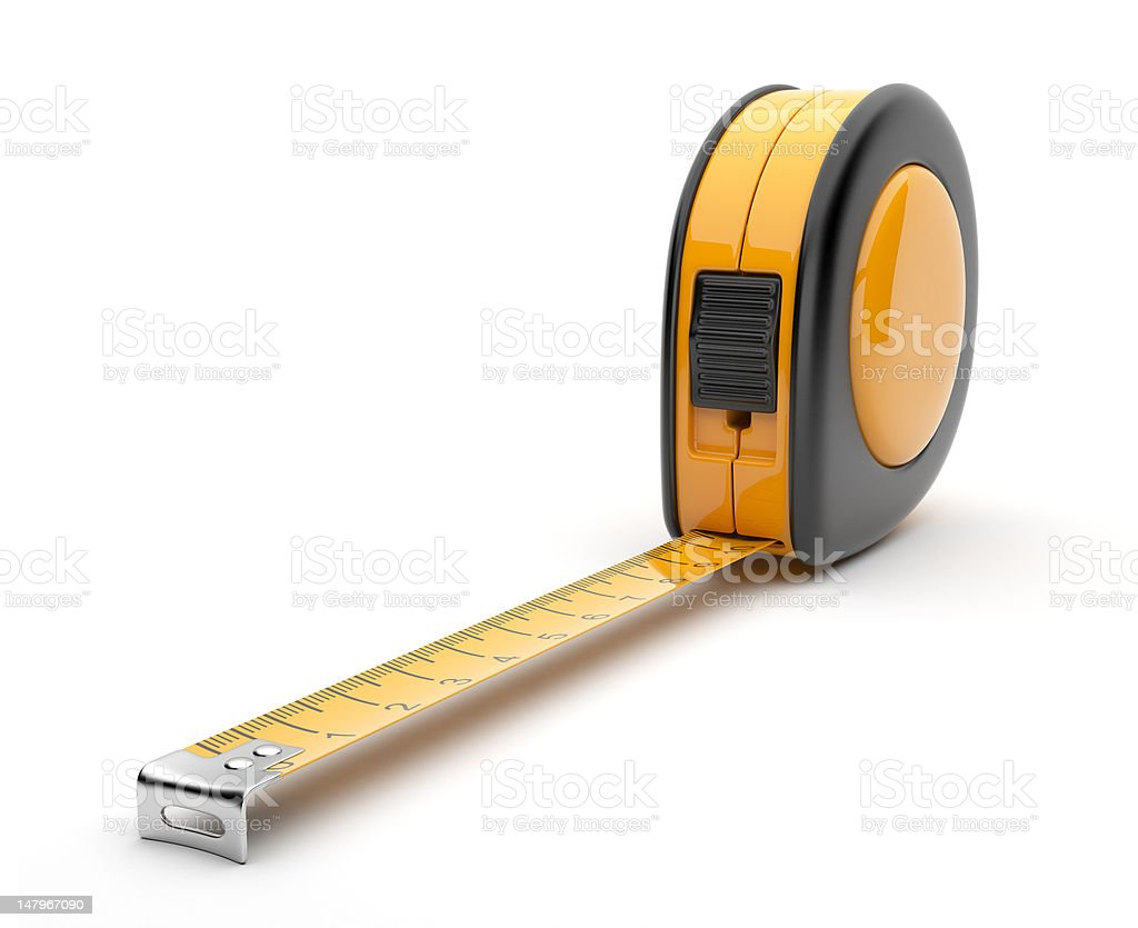 Tape measure 3D. Isolated stock photo