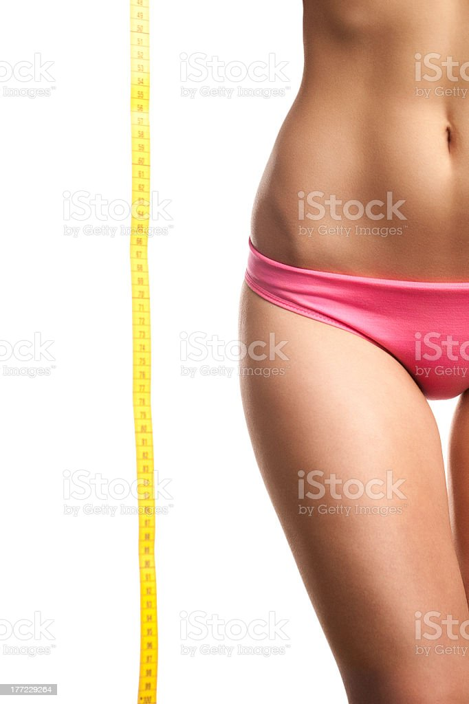 Tape Measure And Perfect Body royalty-free stock photo