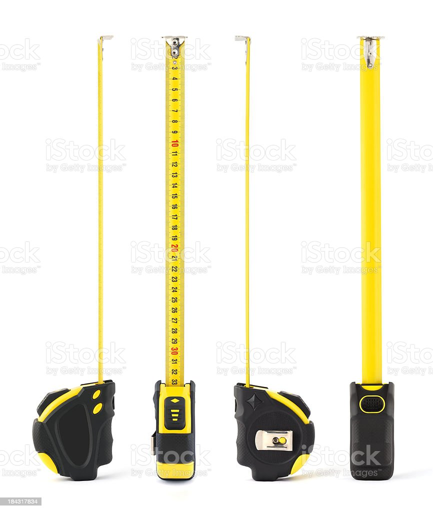 Tape Measure - Four Sides stock photo