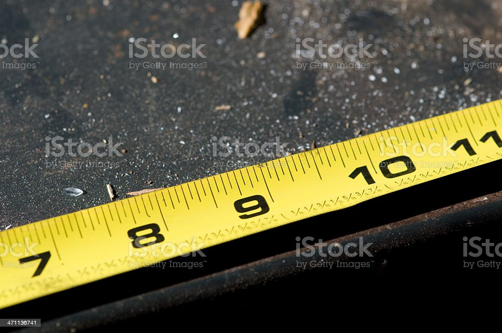 Tape Measure - Inches stock photo