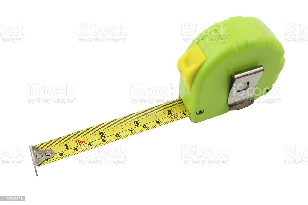 tape measure isolated and white background stock photo