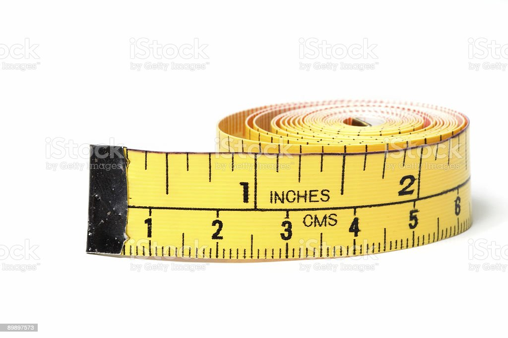 Tape Measure Side View royalty-free stock photo