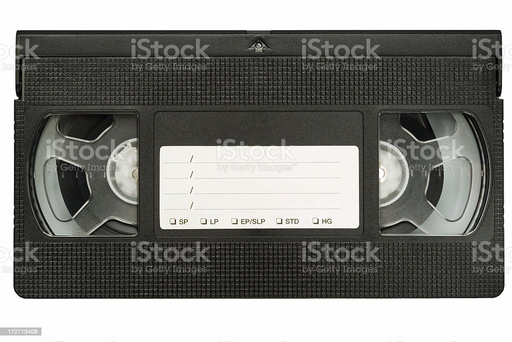 VCR tape royalty-free stock photo