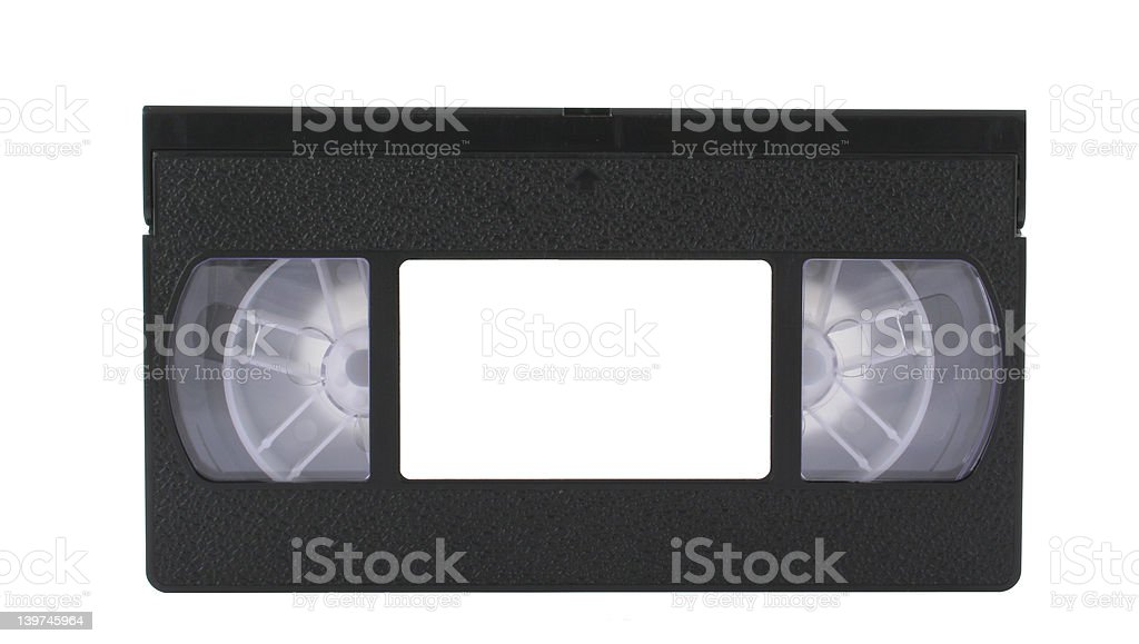 VHS tape with copyspace stock photo