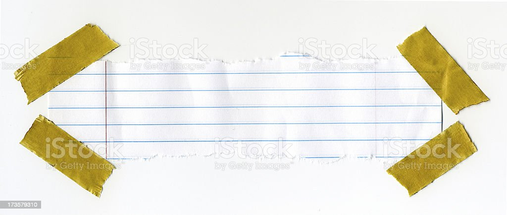 Taped Paper royalty-free stock photo
