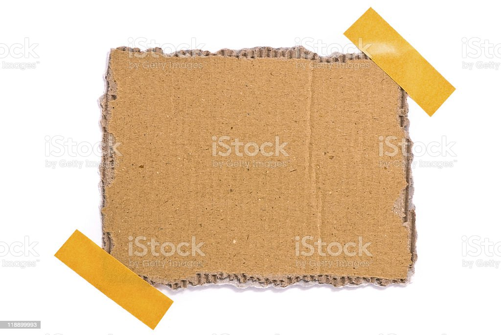 taped up cardboard royalty-free stock photo
