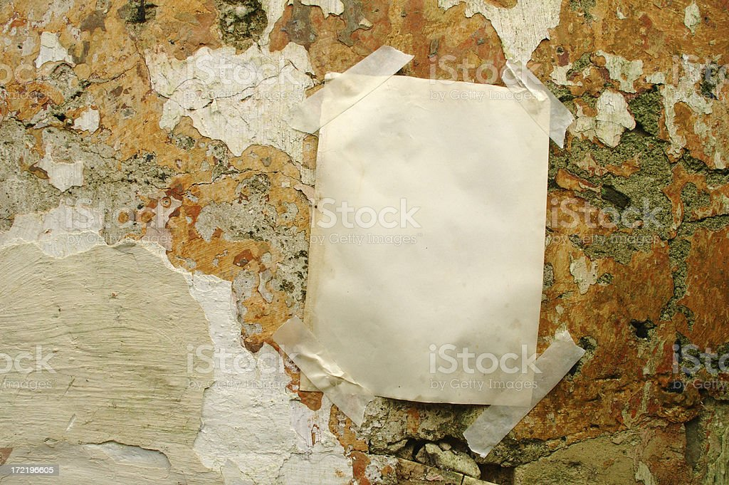 taped up note royalty-free stock photo