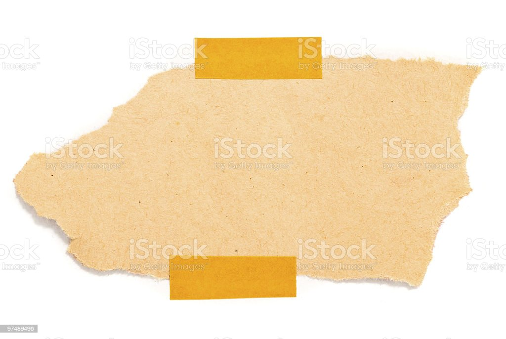 taped up paper royalty-free stock photo