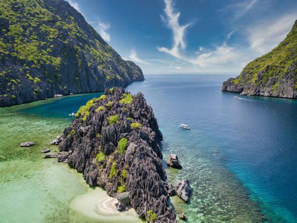Tapiutan Island Palawan Beach Islet Hut El Nido Philippines stock photo