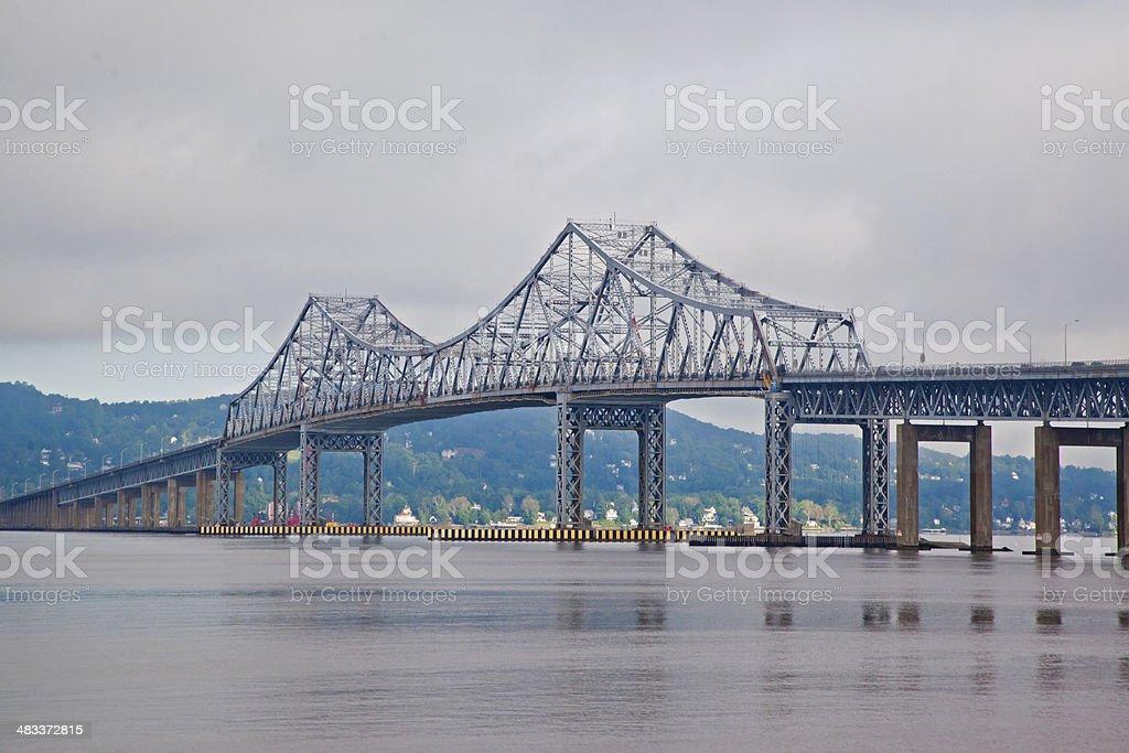 Tappan Zee Bridge over calm Hudson stock photo