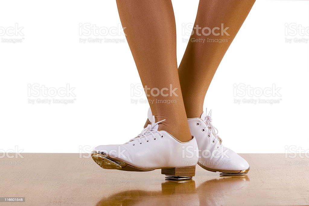 Tap-Top/Clog Dance Front And Side Steps stock photo