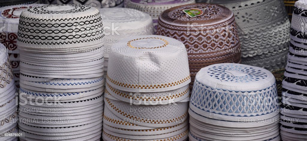 Taqiyah or Kufi Caps stock photo