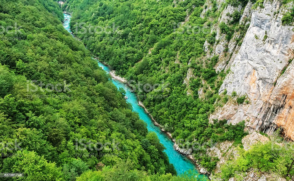 Tara river canyon, Montenegro stock photo