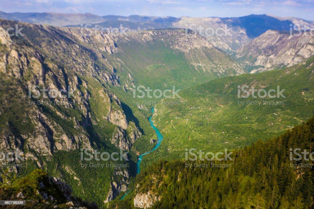 Tara river canyon stock photo