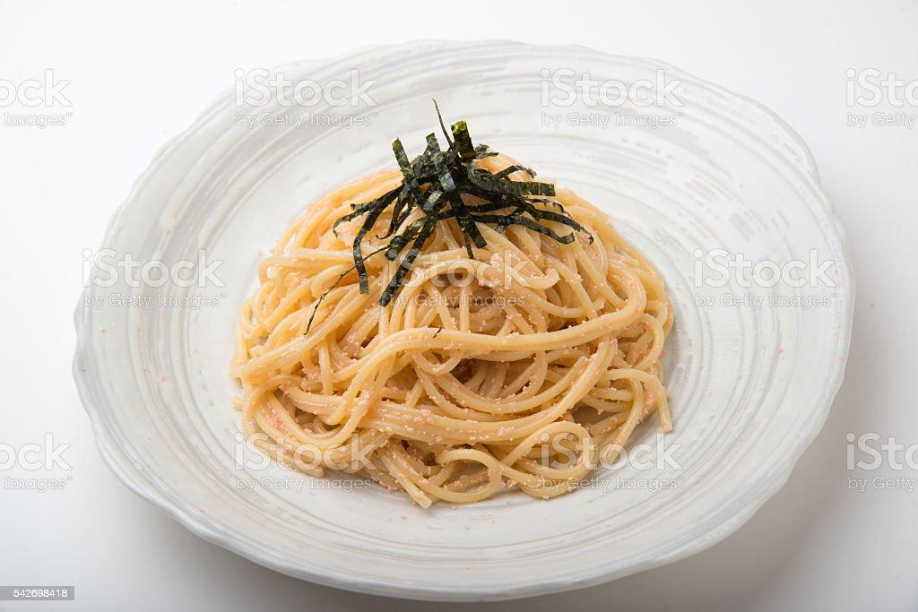 tarako spagetthi stock photo