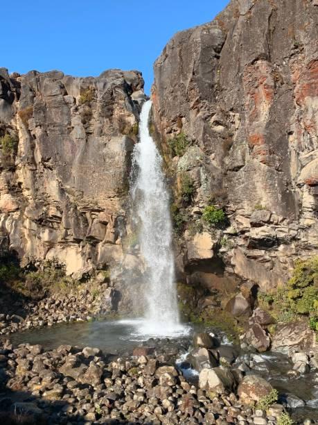 Taranaki Falls stock photo
