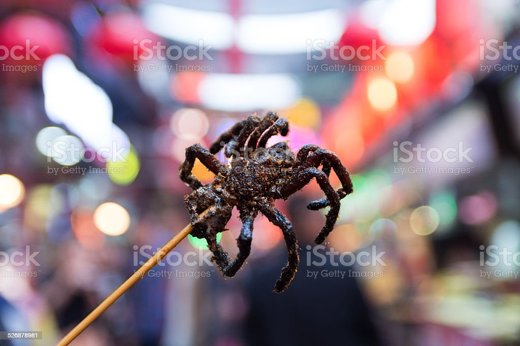 Tarantula Fried stock photo