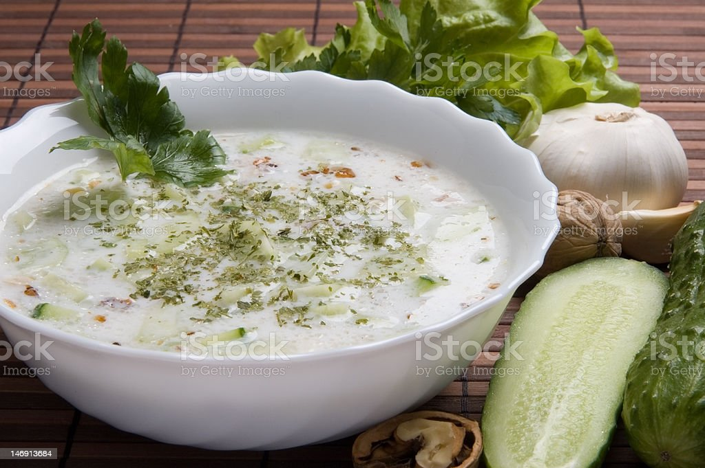 Tarator - bulgarian cuisine dish royalty-free stock photo