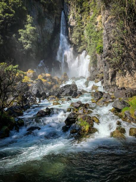 Tarawera Falls stock photo