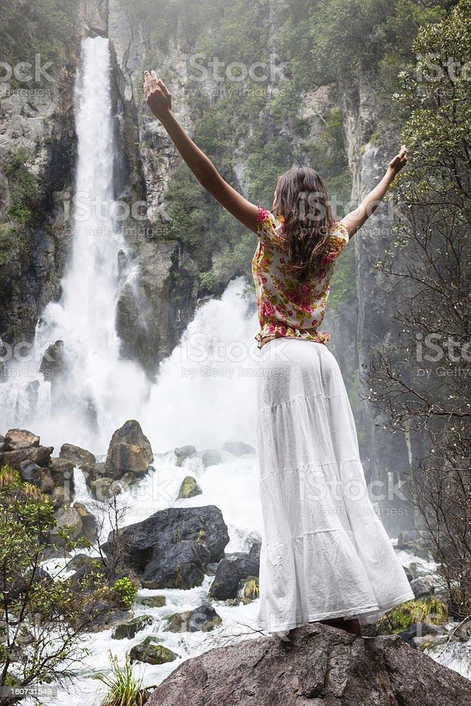 Tarawera Waterfall, New Zealand royalty-free stock photo