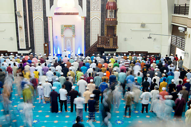 Tarawih Prayers stock photo