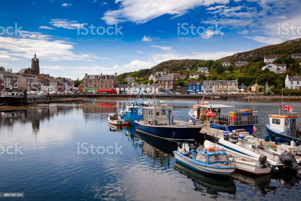 Tarbert Harbour Argyll and Bute Scotland UK stock photo