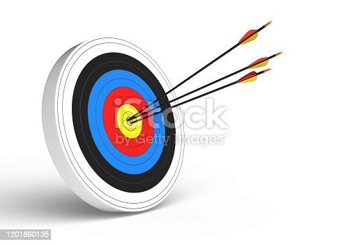 target, 3d, on white background