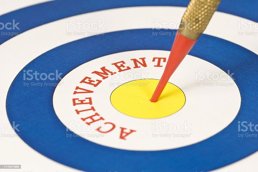 Target: Achievement royalty-free stock photo