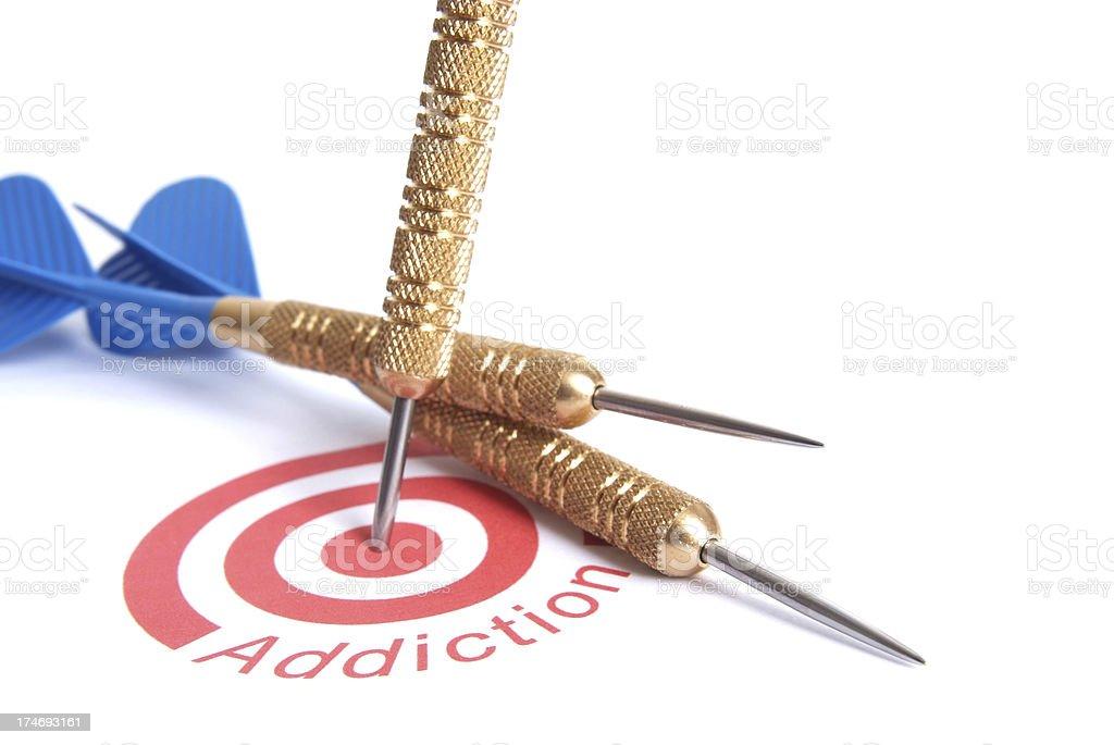 Target Addiction royalty-free stock photo