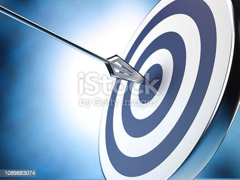 859332096 istock photo Target and arrow, 3D illustration 1089883074