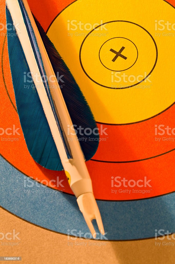 Target and arrow royalty-free stock photo