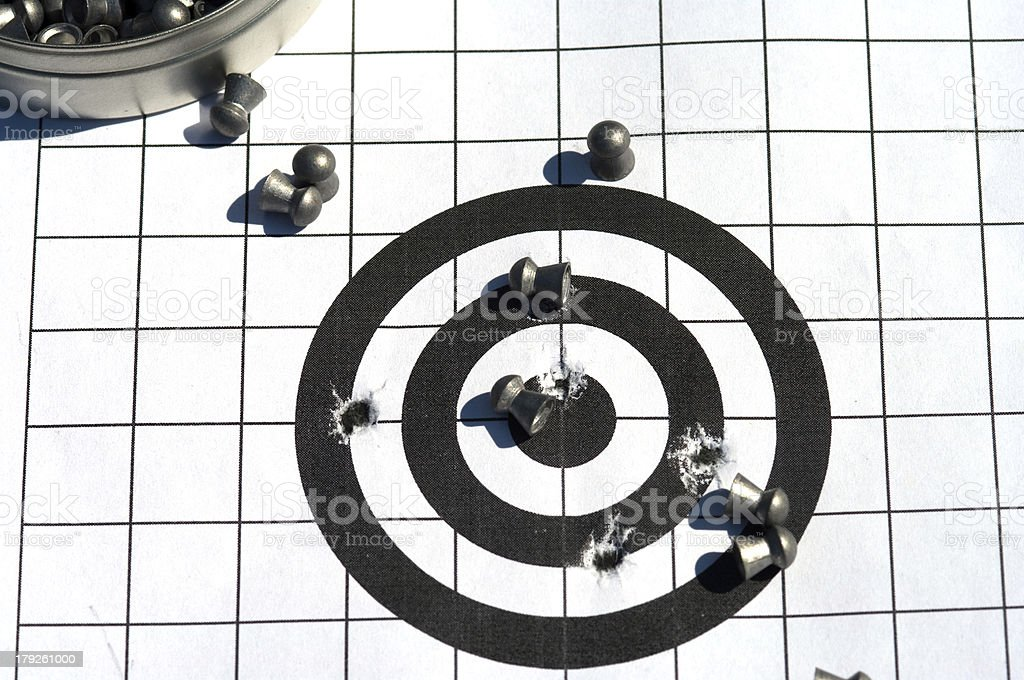Target and bullets. royalty-free stock photo
