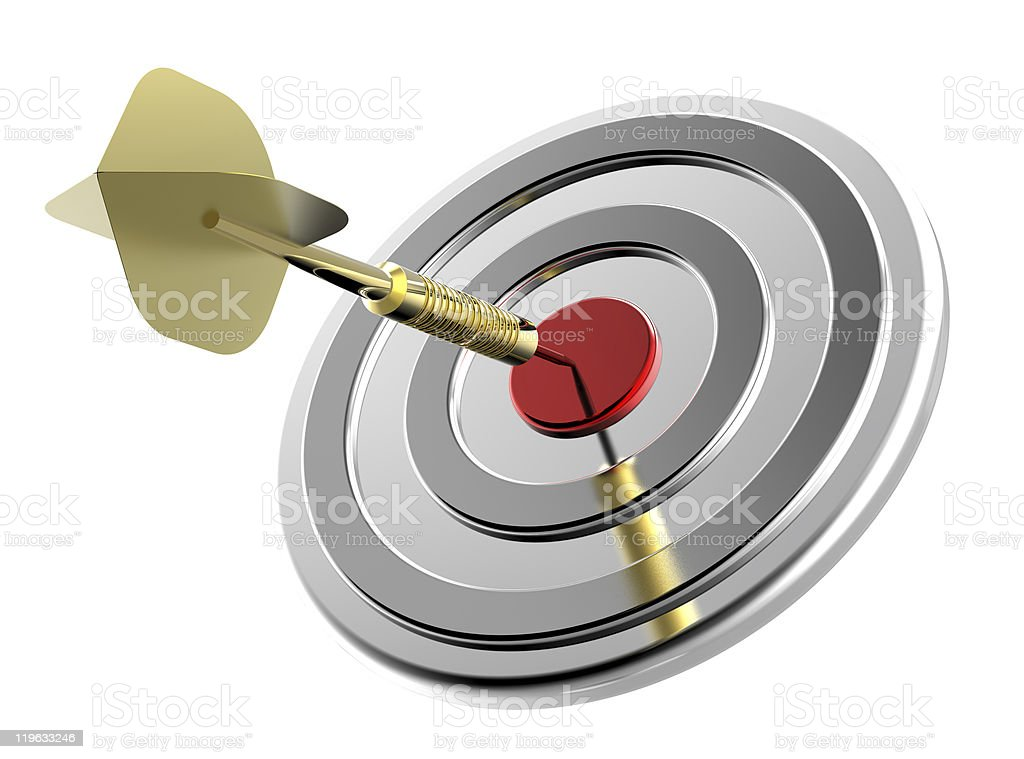 Target and dart royalty-free stock photo