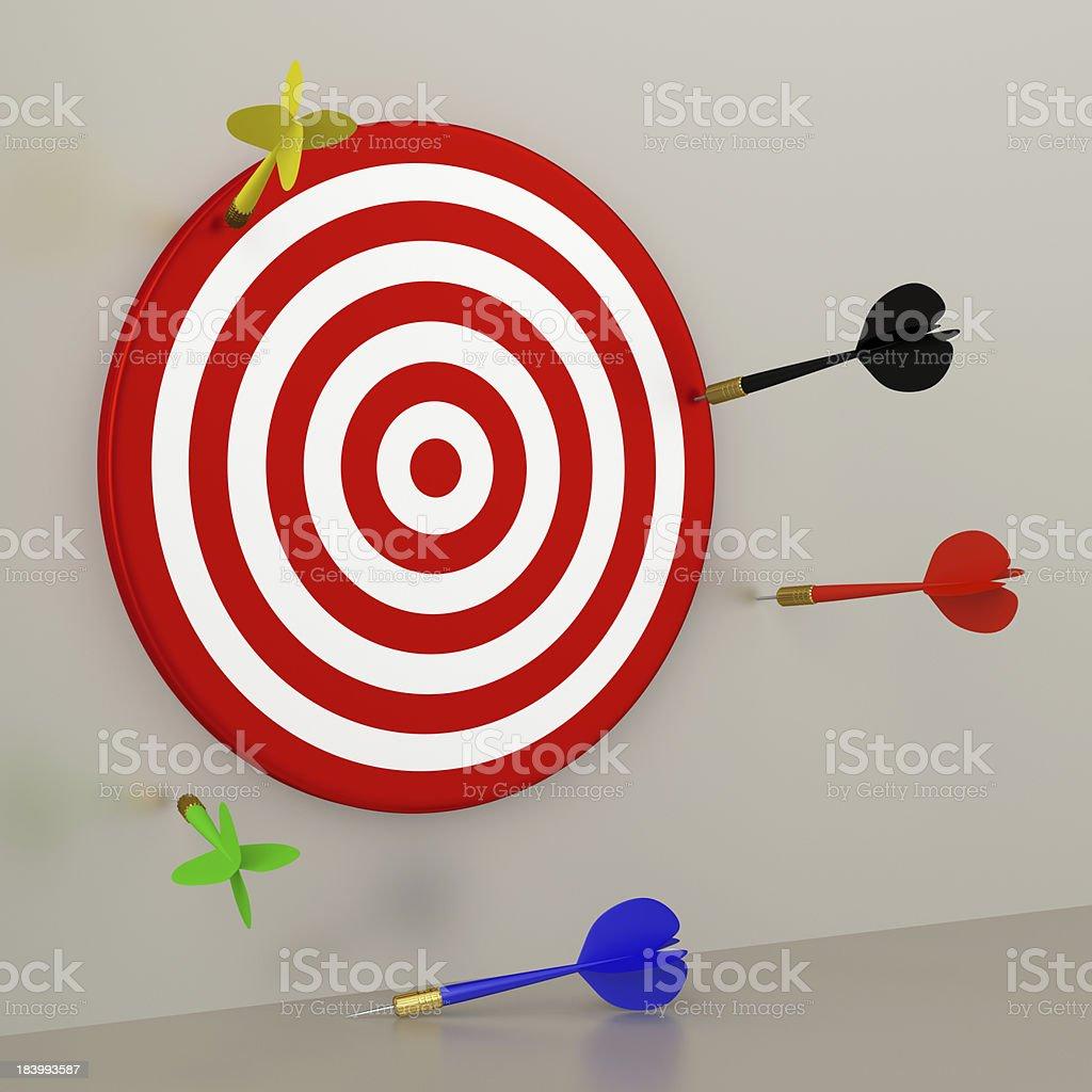 Target and Darts royalty-free stock photo
