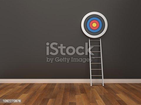 931227282istockphoto Target and Stair in Room - 3D Rendering 1092270976