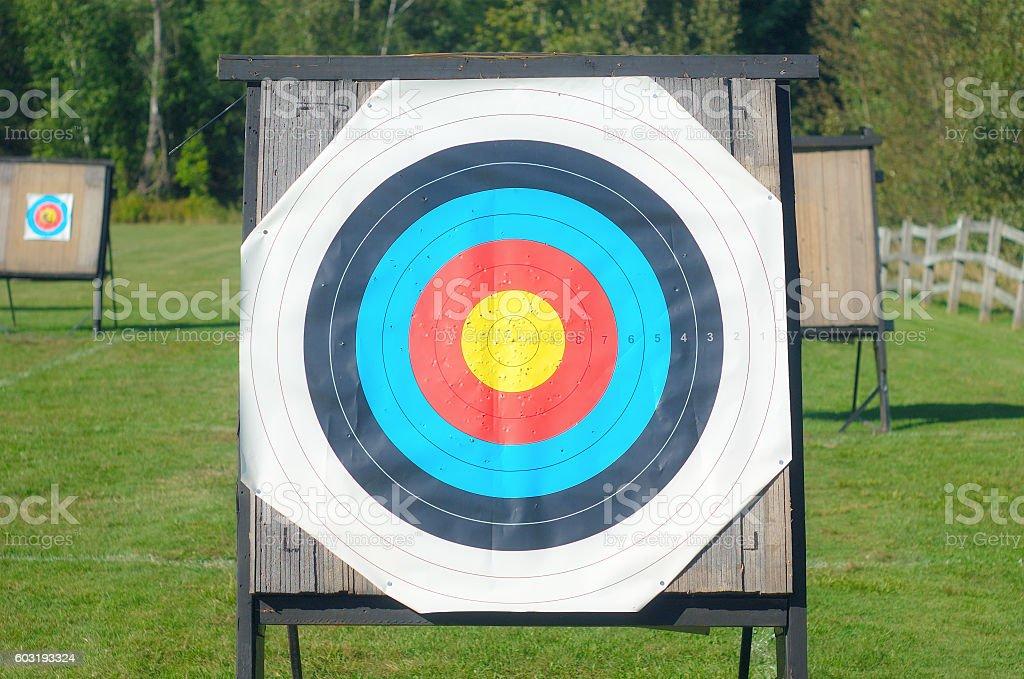 target archery goal precision leisure game concept stock photo