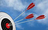 target arrow objective strategy success 3D