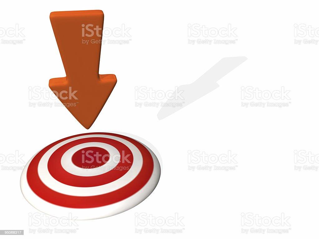 target arrow royalty-free stock photo