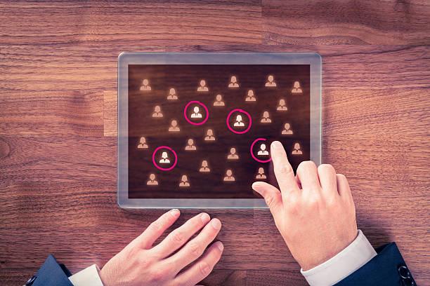 Target audience and market segmentation stock photo